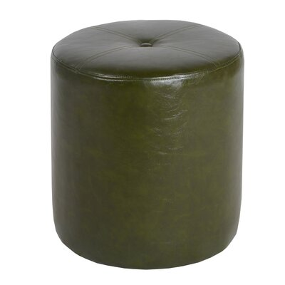 Richard Leatherette Side Stool Color: Green