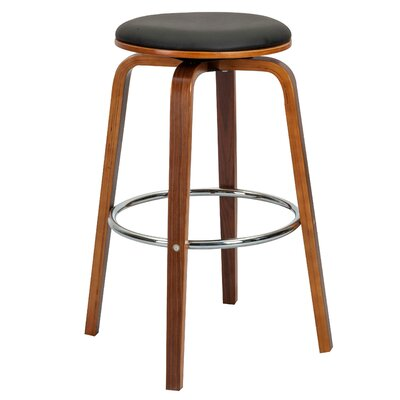 "Williams 26.77"" Swivel Bar Stool Color: Black"