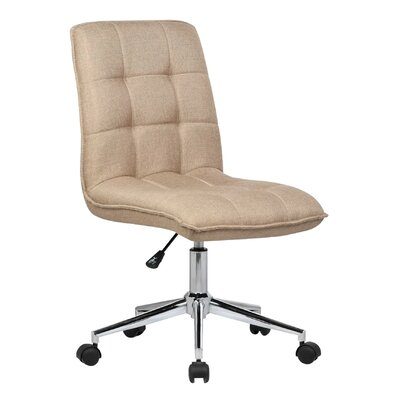 Geraghty Mid-Back Desk Chair Color: Natural