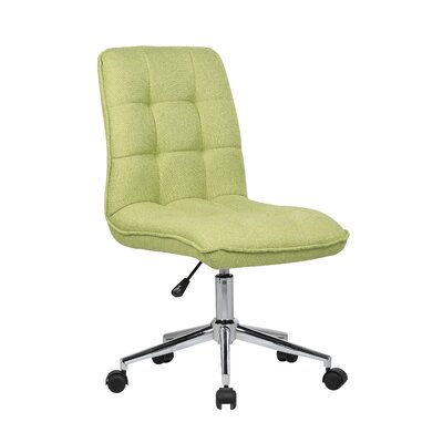 Geraghty Mid-Back Desk Chair Color: Green