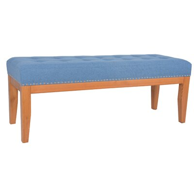 Lilian upholstered Bench Upholstery Color: Blue