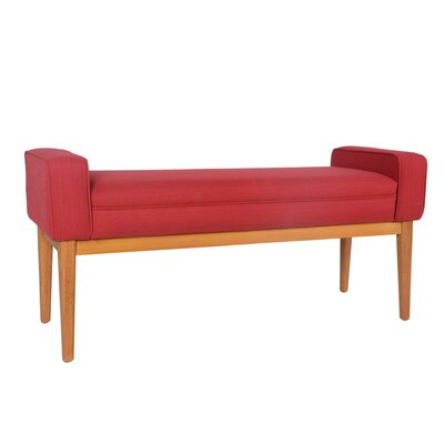 Tabitha Upholstered Bench Upholstery Color: Red