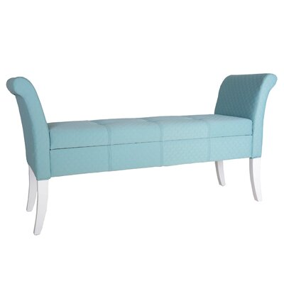 Ardelia Upholstered Storage Bench Upholstery Color: Blue
