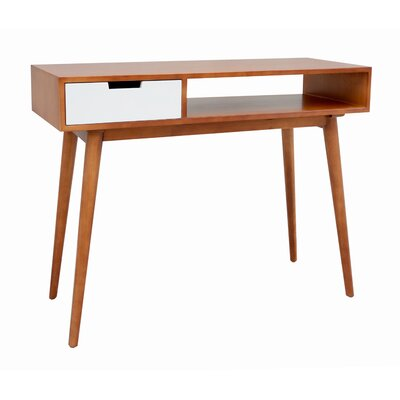 Brookline Mid-Century Console Table Color: White