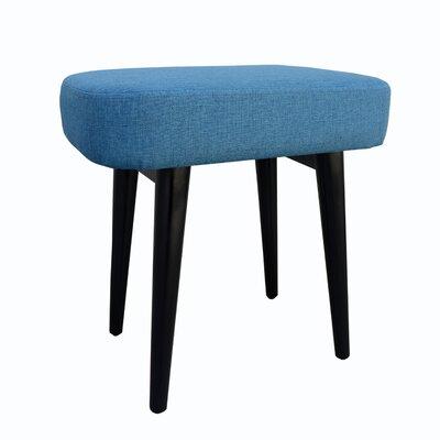 Nash Upholstered Vanity Stool Color: Blue