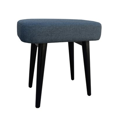 Nash Upholstered Vanity Stool Color: Gray