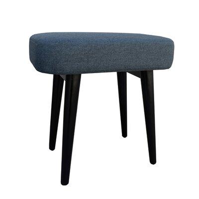 Nash Upholstered Vanity Stool Color: Gray