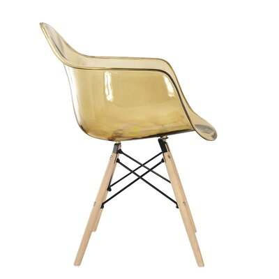 Mid-Century Mid-Back Morgan Chair Color: Clear Grey