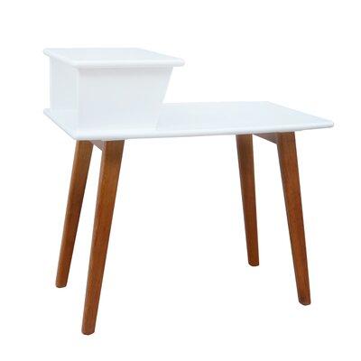 Strafford Split-Level Console Table Color: White