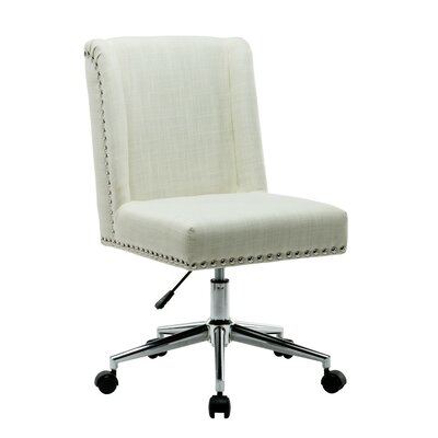 Lewisburg Studded Design Office Chair Color: Cream