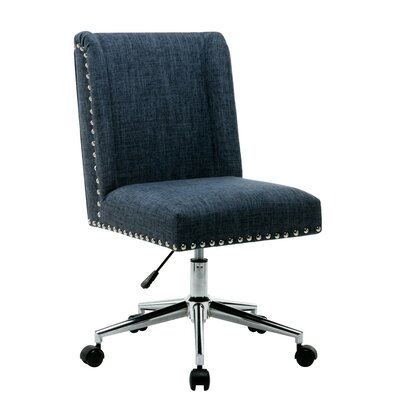 Lewisburg Studded Design Office Chair Color: Blue
