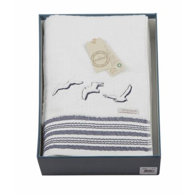 Cotton and Olive Seagull Organic Cotton Bath Towel