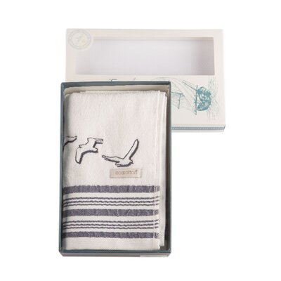 Cotton and Olive Seagull Organic Cotton Hand Towel