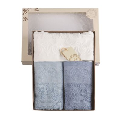 Cotton and Olive Isabella Organic Cotton Hand Towel
