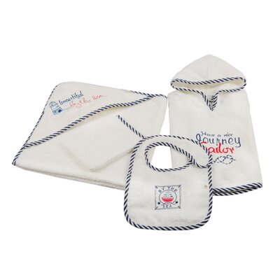 Cotton and Olive Sailor 4 Piece Baby Poncho Set