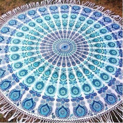 Bohemiyana Peacock Tapestry