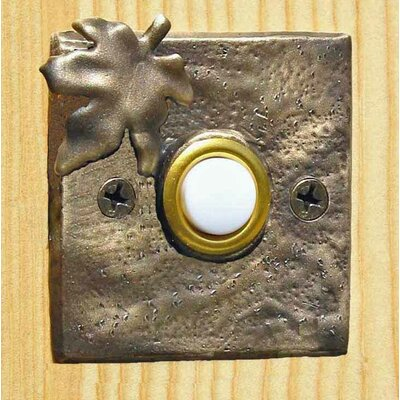 Maple Leaf Square Doorbell Button Finish: Basic Patina