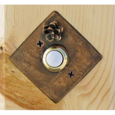 West Hemlock Square Doorbell Button Finish: Basic Patina