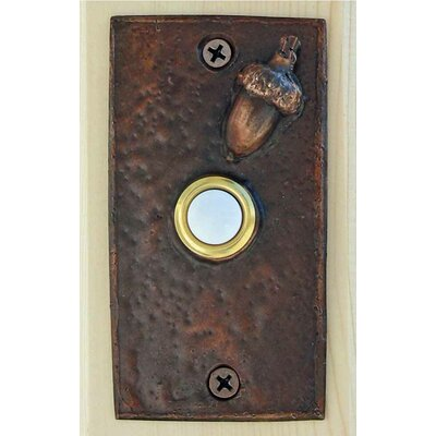 Acorn Rectangular Doorbell Button Finish: Basic Patina