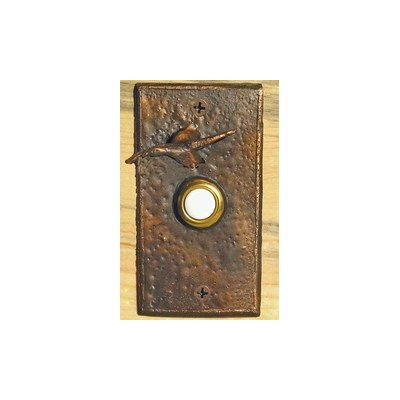Goose Rectangular Doorbell Button Finish: Traditional Patina