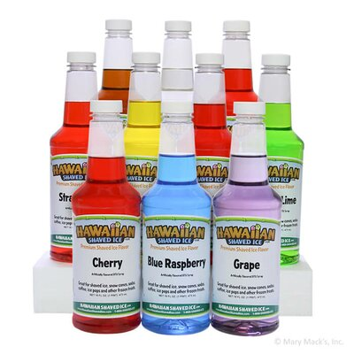 Shaved Ice and Snow Cone Syrups, 10 Flavors, 16 Ounces