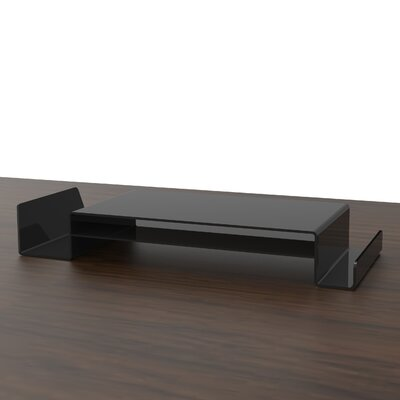 Monitor Stand with Shelf Color: Black