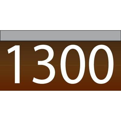 1-Line Lawn Address Sign Plaque Color: Chocolate, Top Finish: Silver