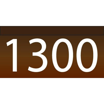 1-Line Lawn Address Sign Plaque Color: Chocolate, Top Finish: Bronze
