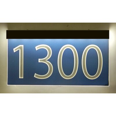 1-Line Lawn Address Sign Plaque Color: Blue, Top Finish: Bronze