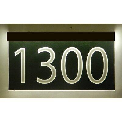 1-Line Lawn Address Sign Plaque Color: Black, Top Finish: Bronze