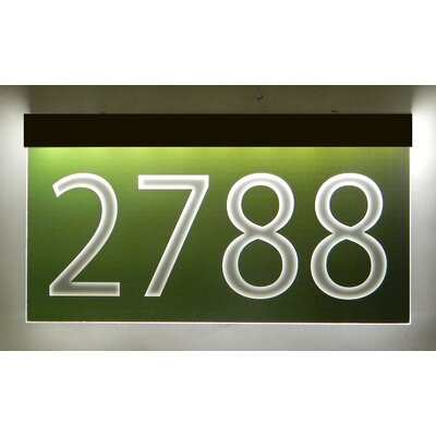 1-Line Lawn Address Sign Plaque Color: Green, Top Finish: Bronze