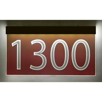 1-Line Lawn Address Sign Plaque Color: Burgundy, Top Finish: Bronze