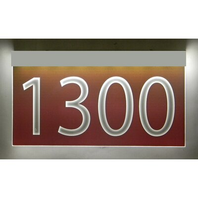 1-Line Lawn Address Sign Plaque Color: Burgundy, Top Finish: Silver