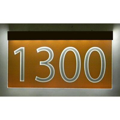 1-Line Lawn Address Sign Plaque Color: Burnt Orange, Top Finish: Bronze