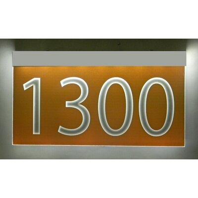 1-Line Lawn Address Sign Plaque Color: Burnt Orange, Top Finish: Silver