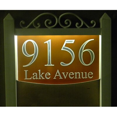 2-Line Lawn Address Sign Plaque Color: Burnt Orange