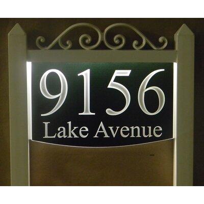 2-Line Lawn Address Sign Plaque Color: Black