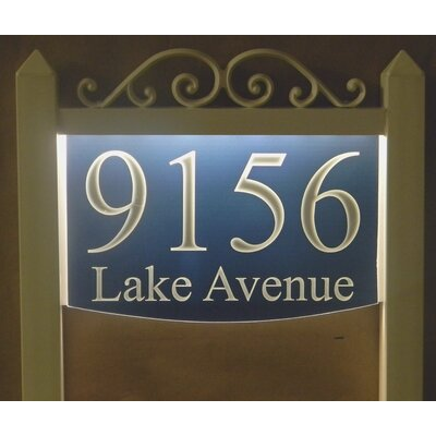 2-Line Lawn Address Sign Plaque Color: Blue