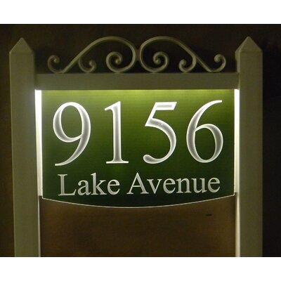 2-Line Lawn Address Sign Plaque Color: Green