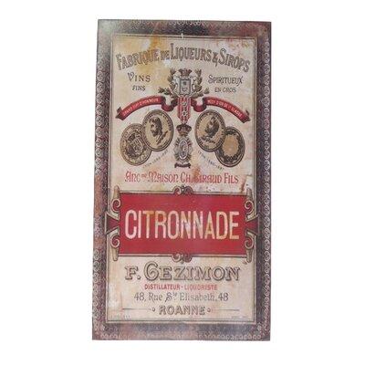 TheWoodTimes Werbeschild Citronnade