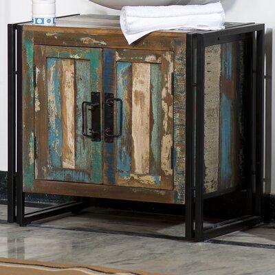 TheWoodTimes 67 cm Waschbeckenkommode Havanna