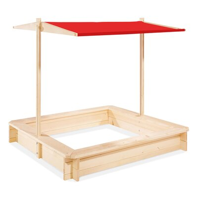 Modern Home 4' Rectangle Sandbox with Cover