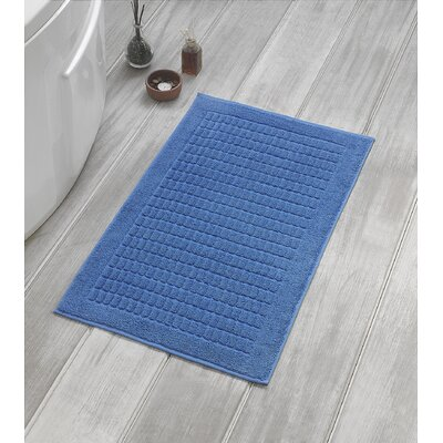 Solomon Luxury Bath Mat Color: Blue
