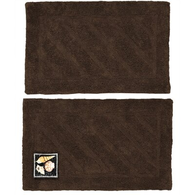Ruby Super-Soft Hand-Tufted Natural Cotton Bath Rugs Color: Brown