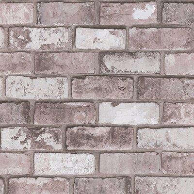Borough Wharf Brick 10m L x 64cm W Roll Wallpaper