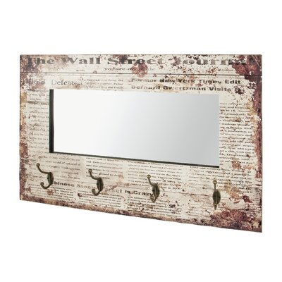 Borough Wharf Wall Mounted Coat Rack with Mirror