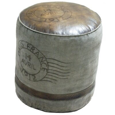 Borough Wharf Cedrick Leather Pouffe