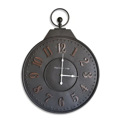 Borough Wharf Round Metal Wall Clock