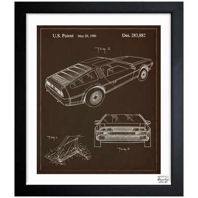 Borough Wharf 'Delorean, 1986' Framed Graphic Art