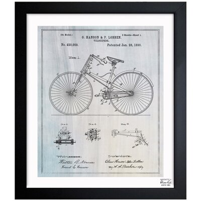 Borough Wharf 'Bicycle 1890' Framed Graphic Art